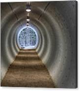 Highway Underpass In Pigeon River Provincial Park Canvas Print