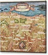 Hiking Map El Camino Spain Map Custom Map Art Canvas Print
