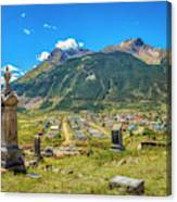 Hillside Cemetery Of Silverton Colorado Canvas Print