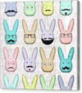 Hipster Bunnies Canvas Print