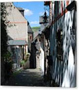 historic cobbled lane in Beilstein Germany Canvas Print