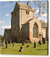 historic Crichton Church and graveyard in Scotland Canvas Print