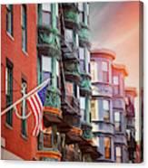 Historic North End Boston Massachusetts Canvas Print