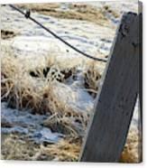 Hoar Frost On A Fence Along Turnagain Arm On The Seward Highway Alaska Canvas Print