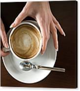 Holding Cappuccino Canvas Print