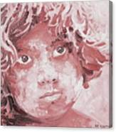Holi Boy. Red. Colorful And Over 15 Monochromatic. Pastel Tone. Canvas Print
