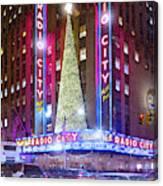 Holiday Season At Radio City Music Hall  Canvas Print