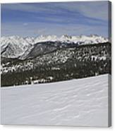 Holy Cross Wilderness Area In Winter Canvas Print