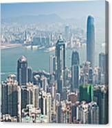 Hong Kong Iconic Skyscraper City Canvas Print