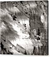 Hoodoo's Black White Utah  Canvas Print