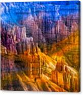 Hoodoo's Rainbow Color Mix Bryce Canyon  Canvas Print