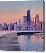 Hook Pier - North Avenue Beach - Chicago Canvas Print