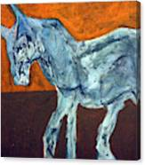 Horse On Orange Canvas Print