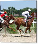 Horse Race For The Prize Canvas Print