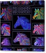 Horses Poster Canvas Print