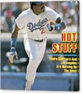 Hot Stuff Pedro Guerrero And Los Angeles Are Burning Up The Sports Illustrated Cover Canvas Print