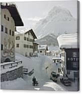 Hotel Krone, Lech Canvas Print