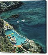 Hotel Taormina Pool Canvas Print