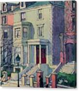Houses In Sunlight, Hampstead, C20th Canvas Print