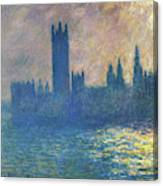 Houses Of Parliament, Sunlight Effect - Digital Remastered Edition Canvas Print