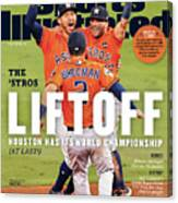 Houston Astros 2017 World Series Champions Sports Illustrated Cover Canvas Print