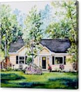 Houston House Portrait Canvas Print