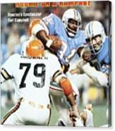 Houston Oilers Earl Campbell... Sports Illustrated Cover Canvas Print