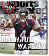 Houston Texans Deshaun Watson, 2018 Nfl Football Preview Sports Illustrated Cover Canvas Print