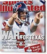 Houston Texans Qb David Carr, 2002 Nfl Hall Of Fame Game Sports Illustrated Cover Canvas Print