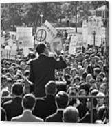 Hubert Humphrey Speaking To Crowd Canvas Print