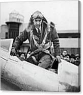 Hughes Boards His Plane Canvas Print