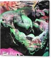 Hulk Thinker Canvas Print