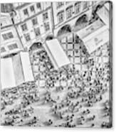 Humanoid Patterns Canvas Print