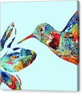 Hummingbird Blue - Sharon Cummings Canvas Print