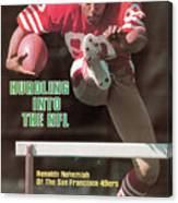 Hurdling Into The Nfl Renaldo Nehemiah Of The San Francisco Sports Illustrated Cover Canvas Print