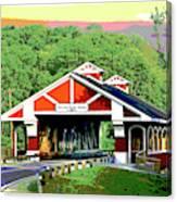 Huseston Woods Bridge Canvas Print