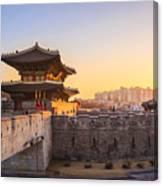Hwaseong Fortress, Traditional Canvas Print