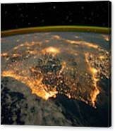 Iberian Peninsula From Space Canvas Print