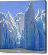 Ice Castles On A Sunny Day At The Grey Canvas Print