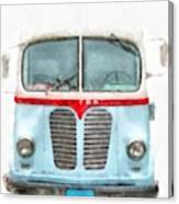 Ice Cream Food Truck Metro Van Canvas Print
