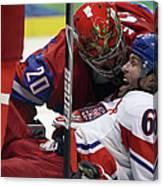 Ice Hockey - Day 10 - Russia V Czech Canvas Print