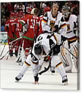 Ice Hockey - Day 9 - Germany V Belarus Canvas Print
