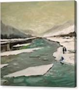 Icey River Canvas Print