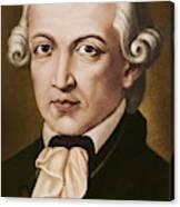 Immanuel Kant, Philosopher, Born In Konigsberg, Germany Canvas Print