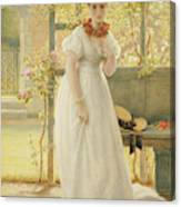 In The Walled Garden, 1869 Canvas Print