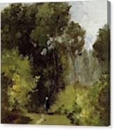 In The Woods, 1864 Canvas Print
