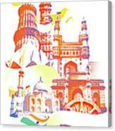 Indian Monuments Collage Canvas Print