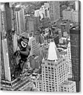Inflatable King Kong On The Empire Canvas Print