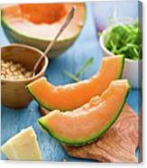 Ingredients For Melon Salad Canvas Print