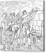 Inside A Cheshire Salt Mine, 1889 Canvas Print